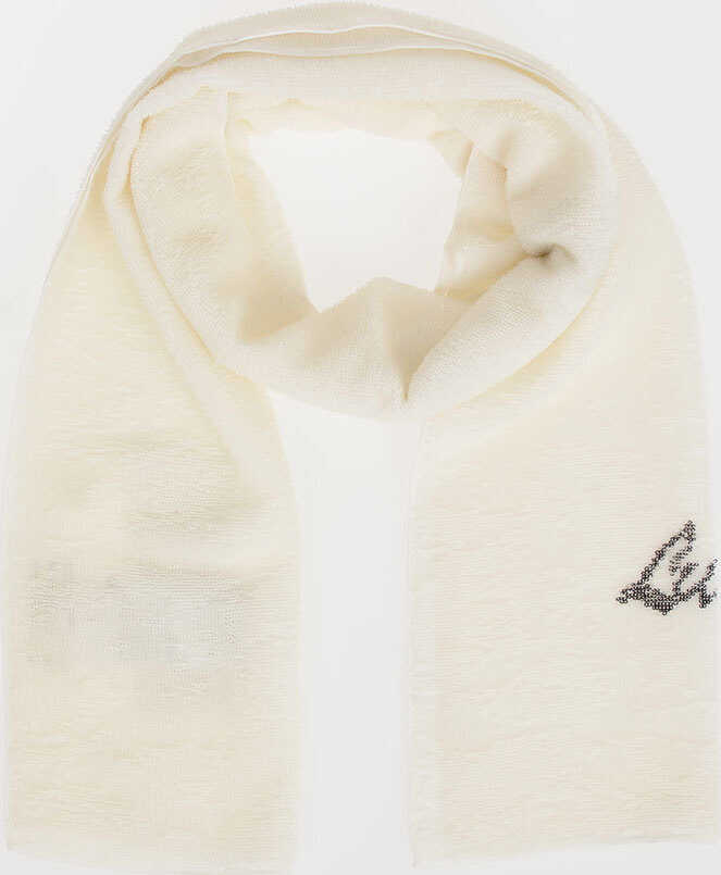 Maison Margiela MM14 Sequined Scarf WHITE