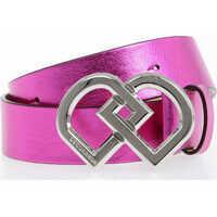 Curele 35 mm Metallic Leather Belt Femei