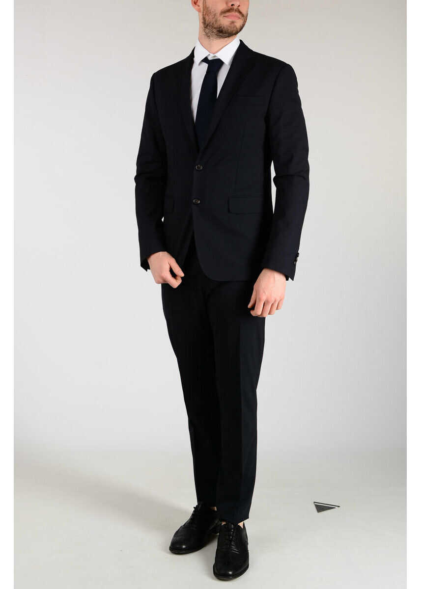DSQUARED2 Wool Blend PARIS Suit BLUE