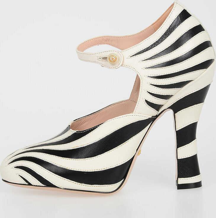 Gucci 11.5 . cm Zebra Print MARY JANE PUMP N/A
