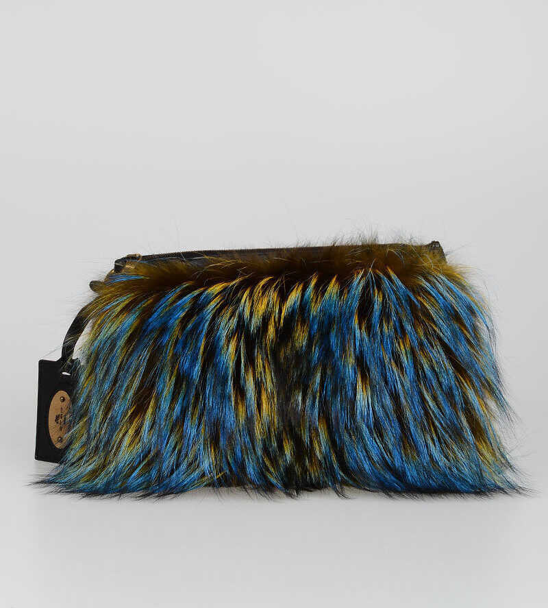 ETRO Fox and Lapin Pelted Bag MULTICOLOR