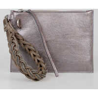 Genti de Laptop & Serviete Leather WRIST POUCH Pochette Femei