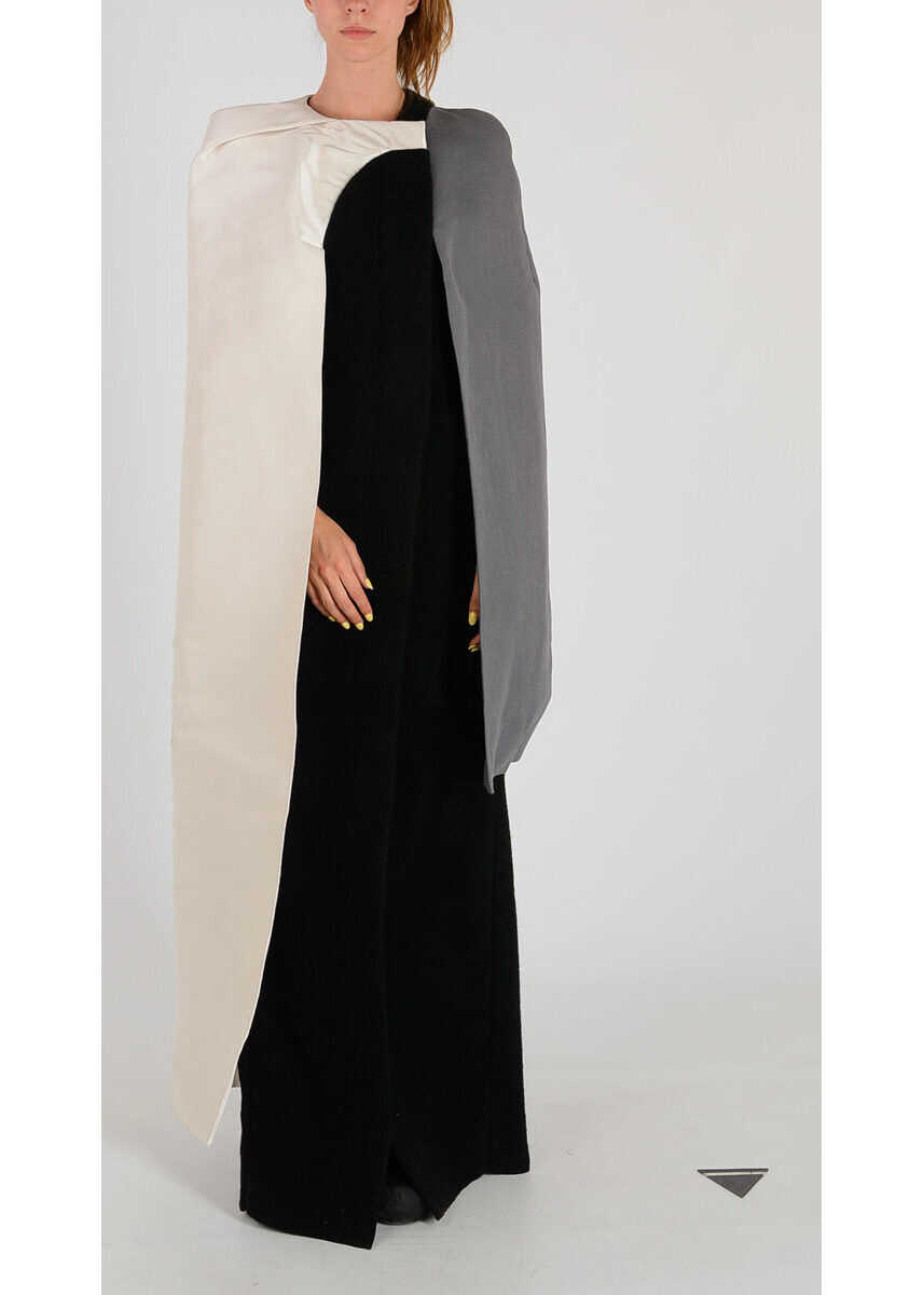 Rick Owens Silk And wool CONCH ROBE Coat GRAY