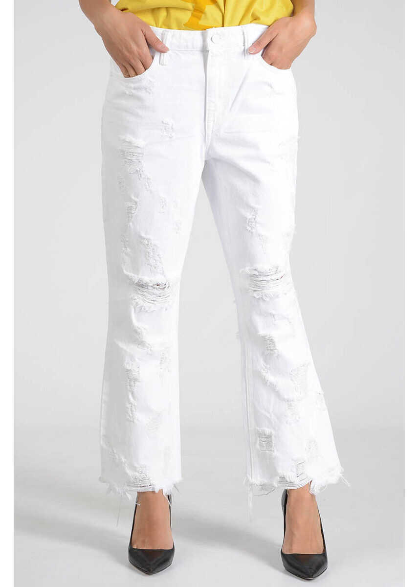 Alexander Wang X 20cm Destroyed GRIND Jeans WHITE