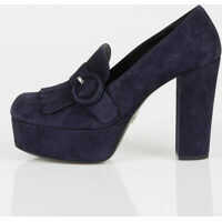 Pantofi cu Toc Prada Suede Leather Moccasin with Heeel and Plateau