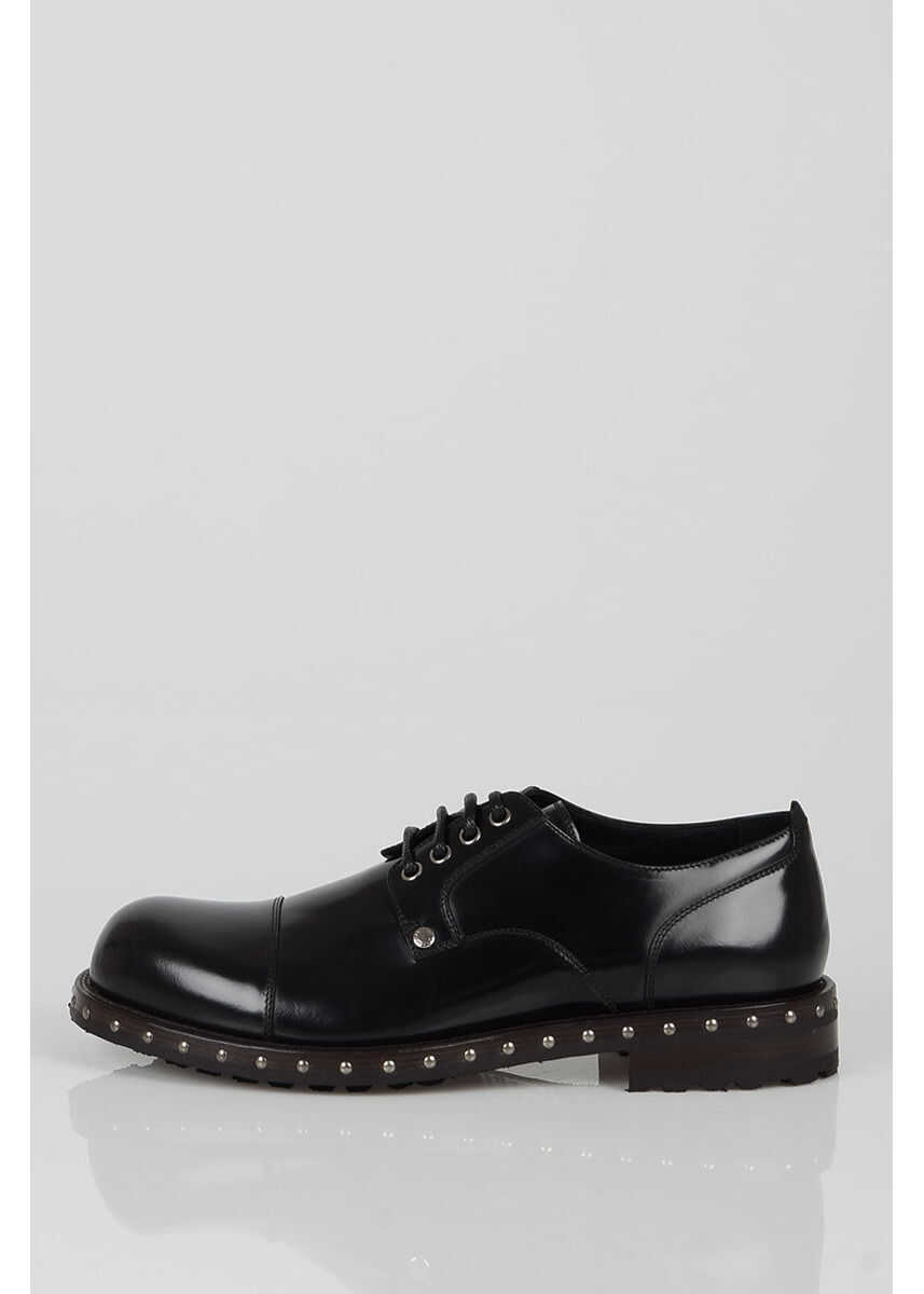 Dolce & Gabbana Leather Laced Shoes N/A