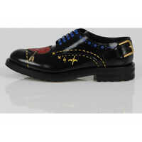 Pantofi Leather Embroidered Laced Shoes Femei