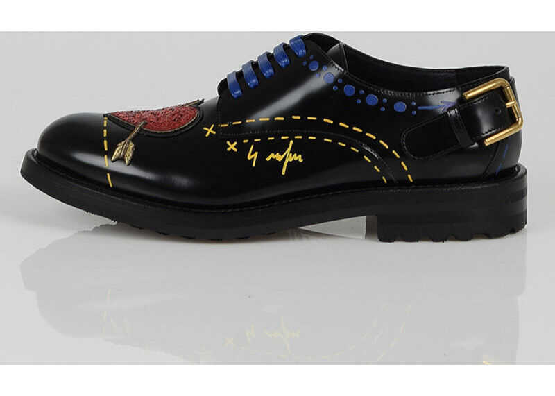Dolce & Gabbana Leather Embroidered Laced Shoes N/A
