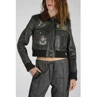 Geci de Piele Leather Printed Jacket Femei
