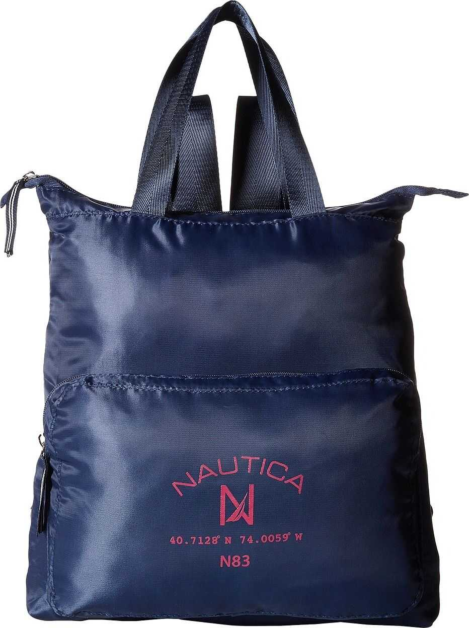 Nautica New Tack Diagonal Quilt Backpack Navy