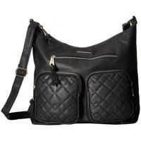 Genti de Mana Quilted Mixed Stitched Hobo Femei
