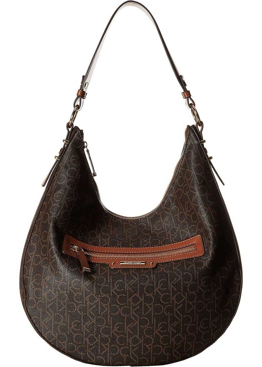 Calvin Klein Monogram Hobo Brown/Luggage