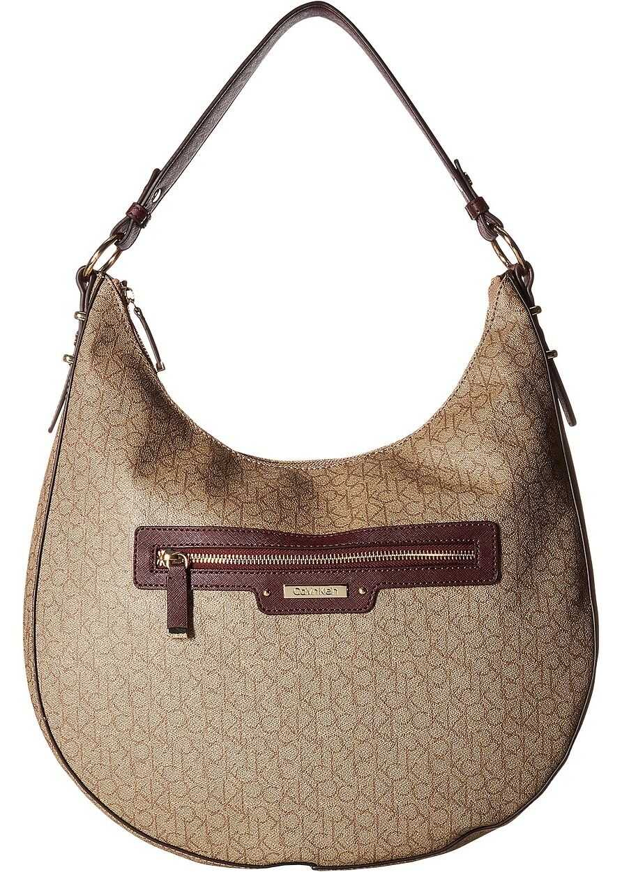 Calvin Klein Monogram Hobo Rum Raisin