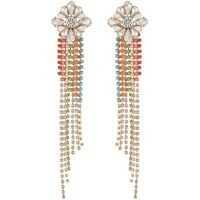 Cercei Floral Slant Chandelier Earrings Femei
