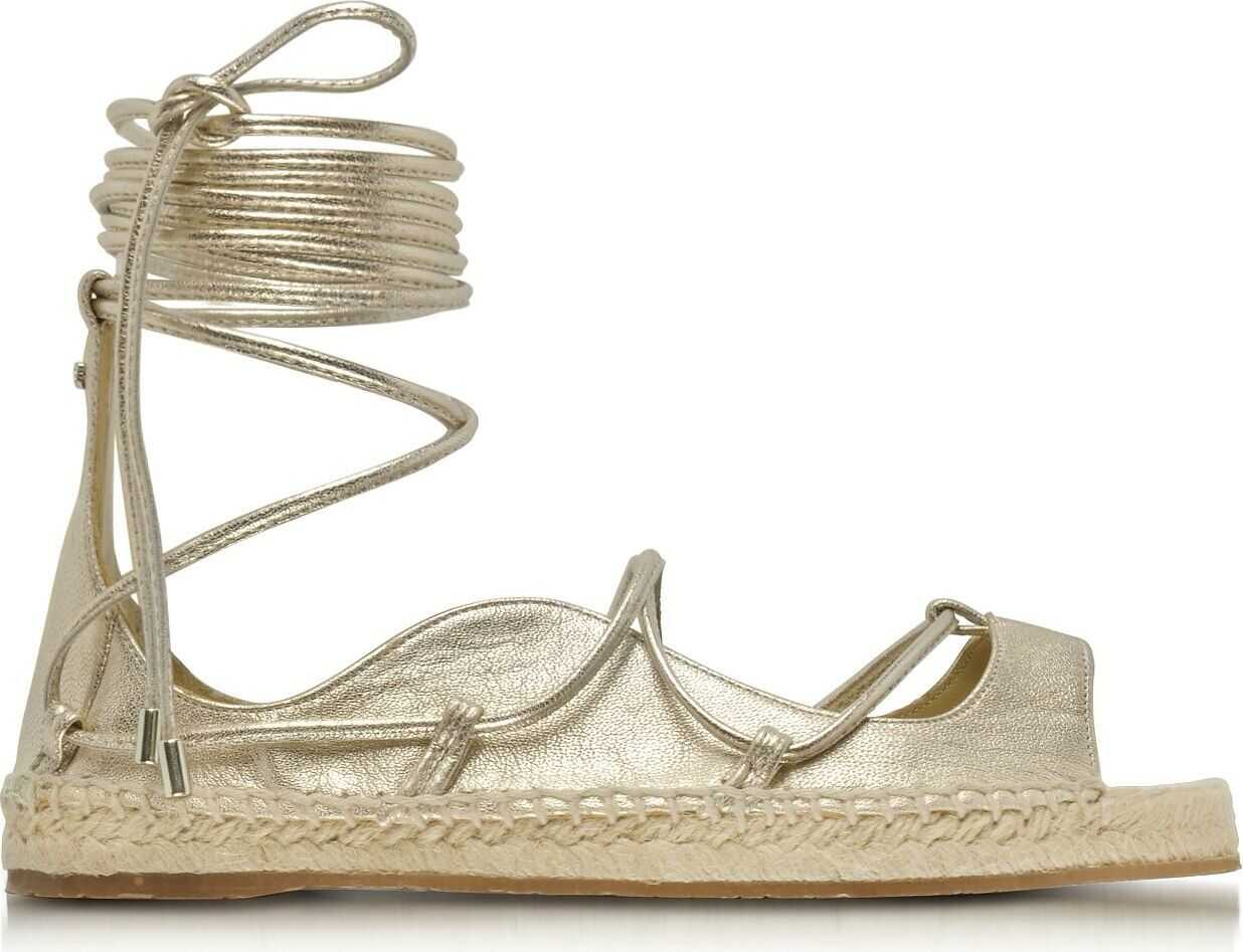 DSQUARED2 Leather Espadrilles GOLD