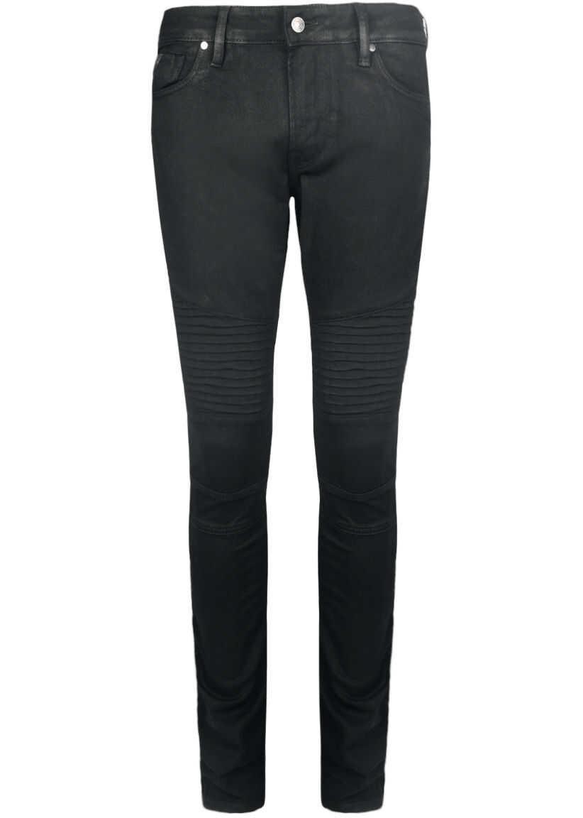 prețuri grozave cea mai mare reducere pantofi eleganti Blugi drepti GUESS Skinny Biker M72AN3R2DH0 Czarny Barbati ...