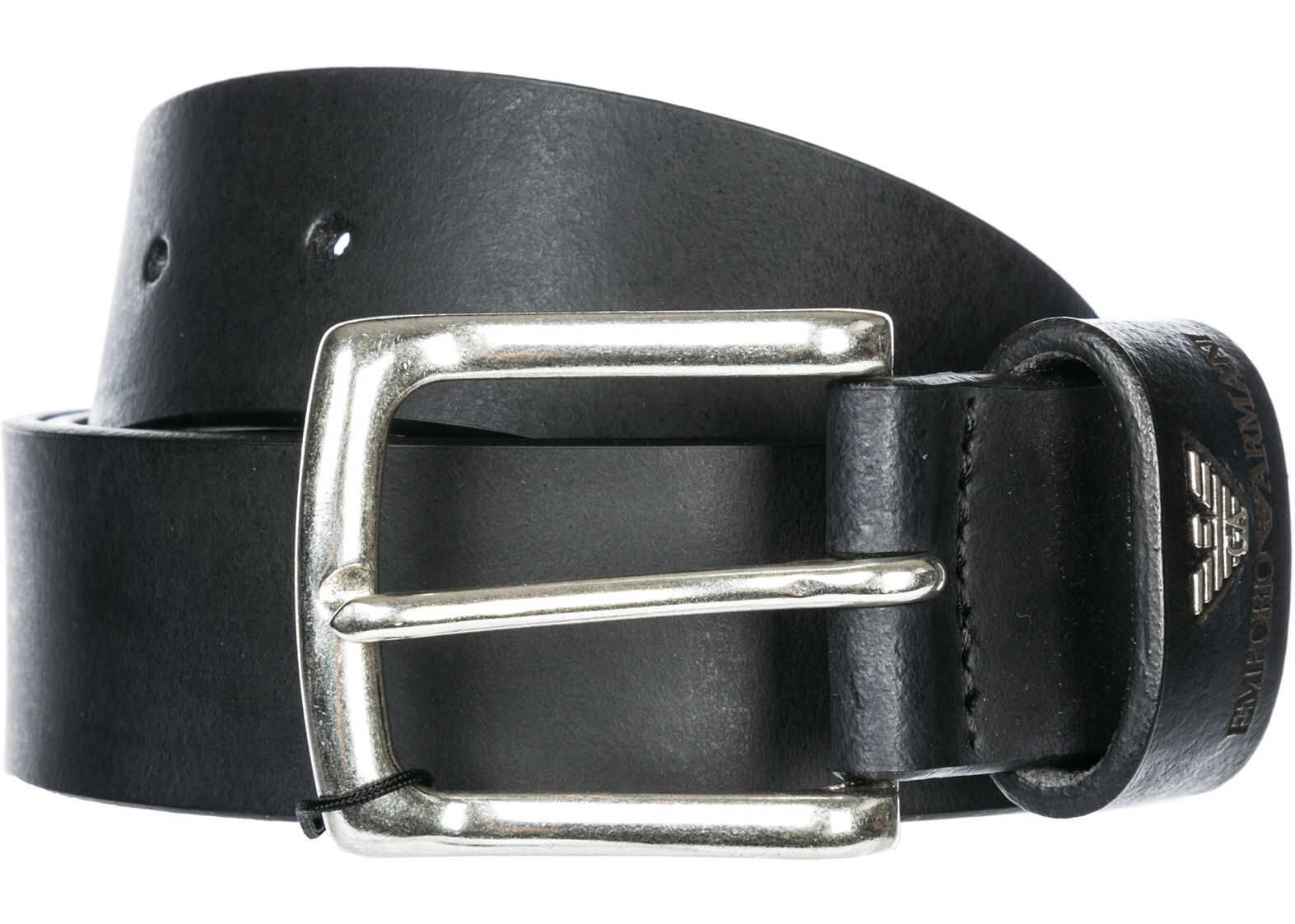 Emporio Armani Leather Belt Black