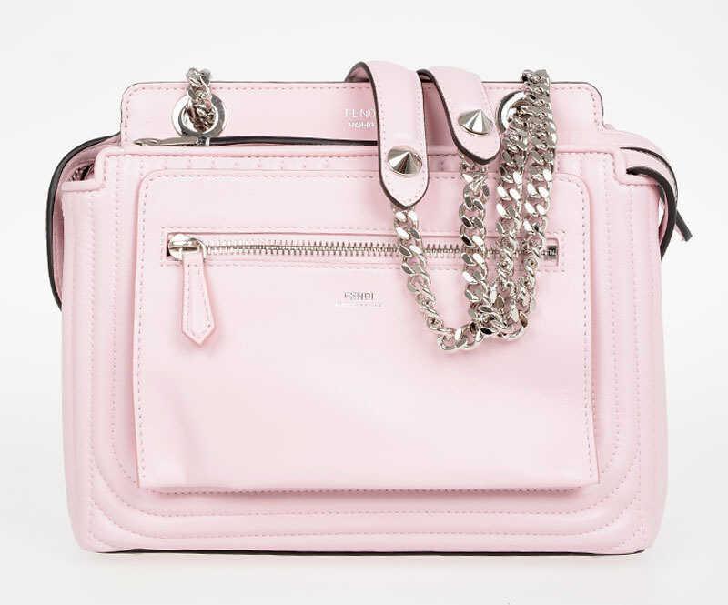 Fendi Quilted Leather DOT COM Bag PINK
