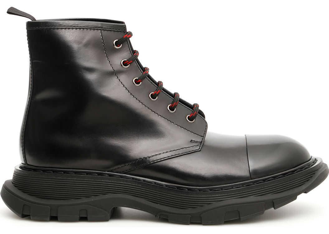 Alexander McQueen Lace-Up Boots BLACK BLACK