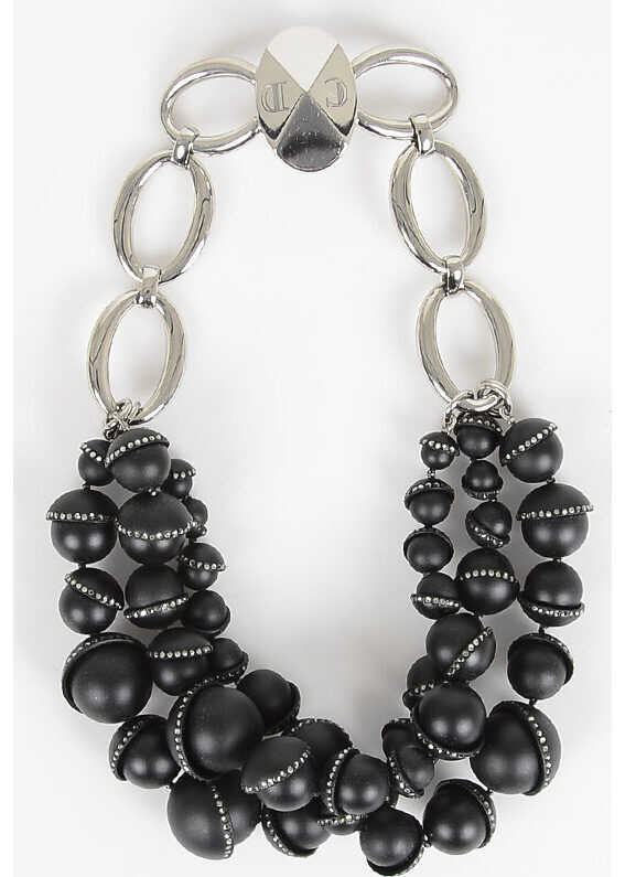 Dior Necklace With Resin Pearls BLACK