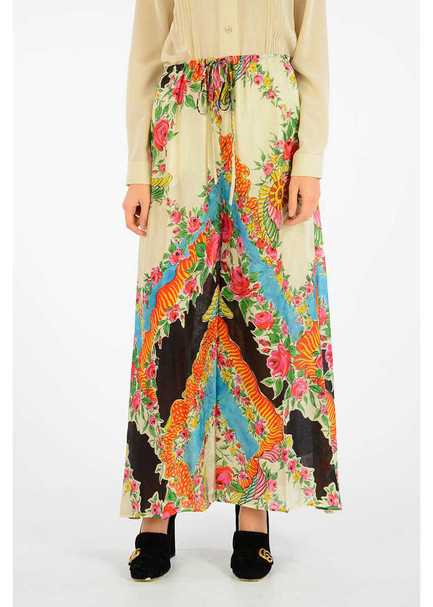 Gucci Flower Printed Pants MULTICOLOR