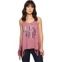 Maiouri 1604 Polyester Cotton Knit Fringed Tank Top Femei