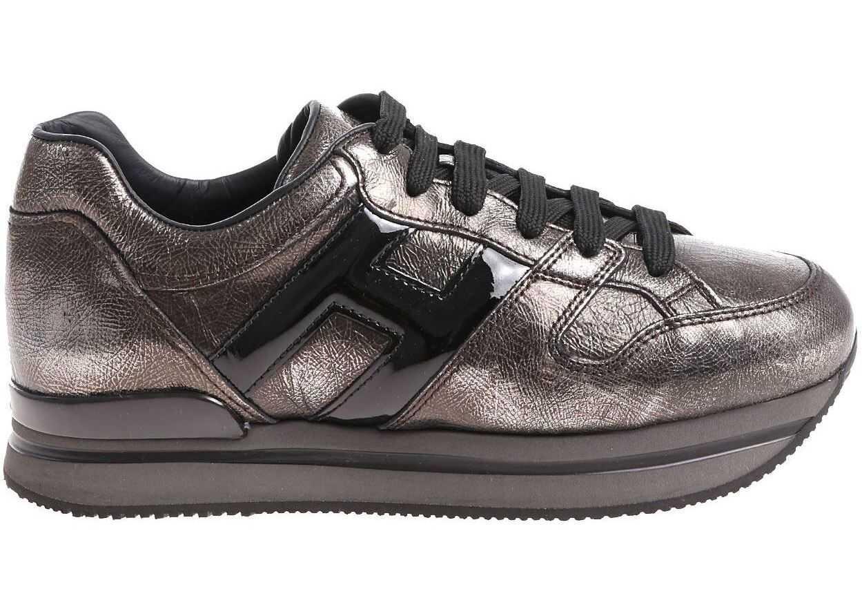 Hogan Gray H222 Vintage Effect Sneakers* Gray