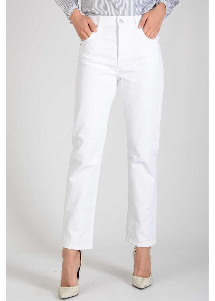 Balenciaga 18cm Denim Jeans WHITE
