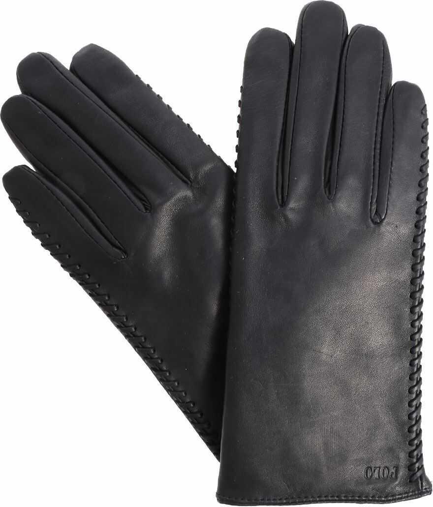 Ralph Lauren Black Leather Gloves Black
