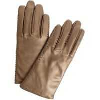 Manusi Bronze-Colored Leather Gloves Femei