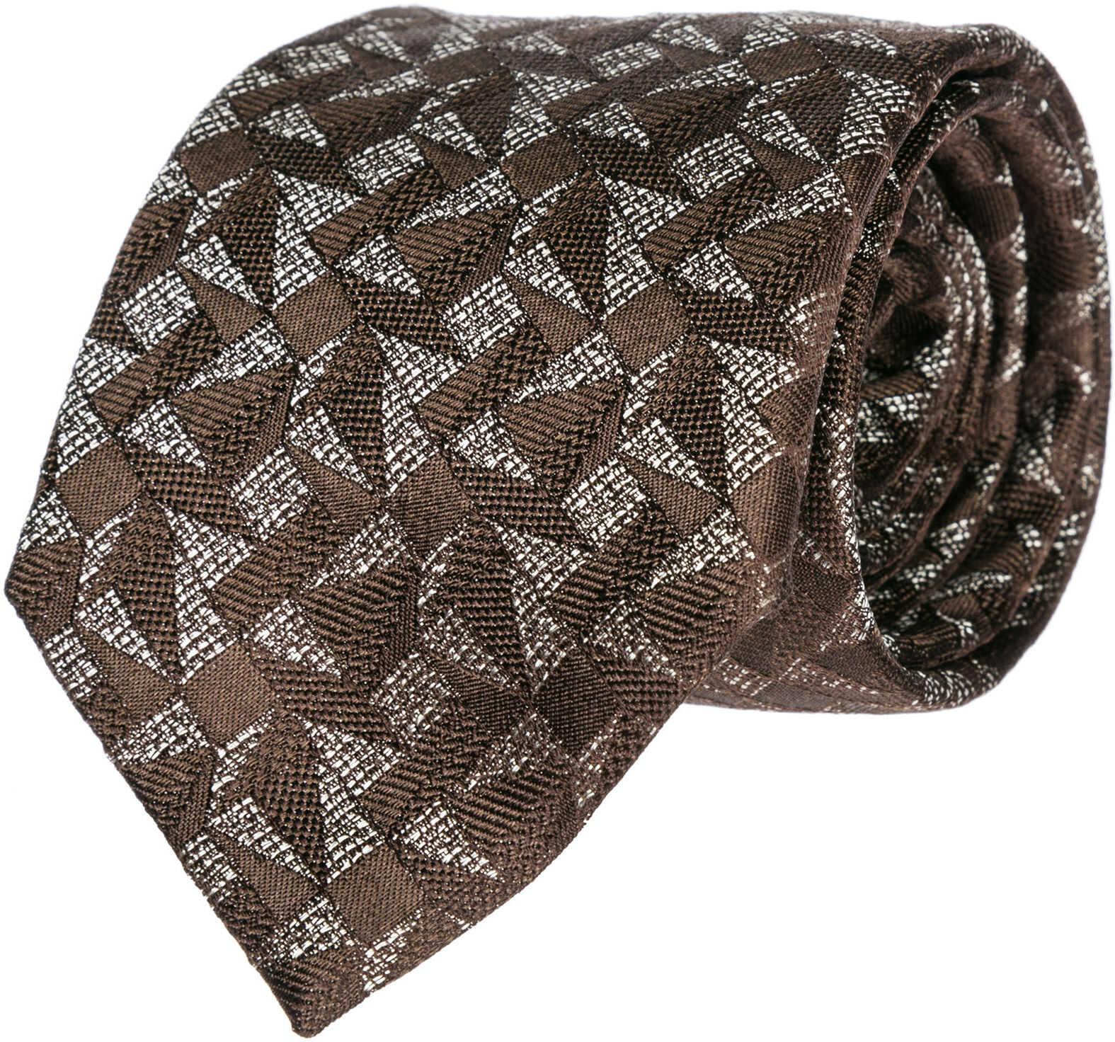 Emporio Armani Tie Necktie Brown