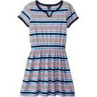 Rochii Yarn-Dye Stripe Jersey Dress with Solid Trim (Big Kids) Fete