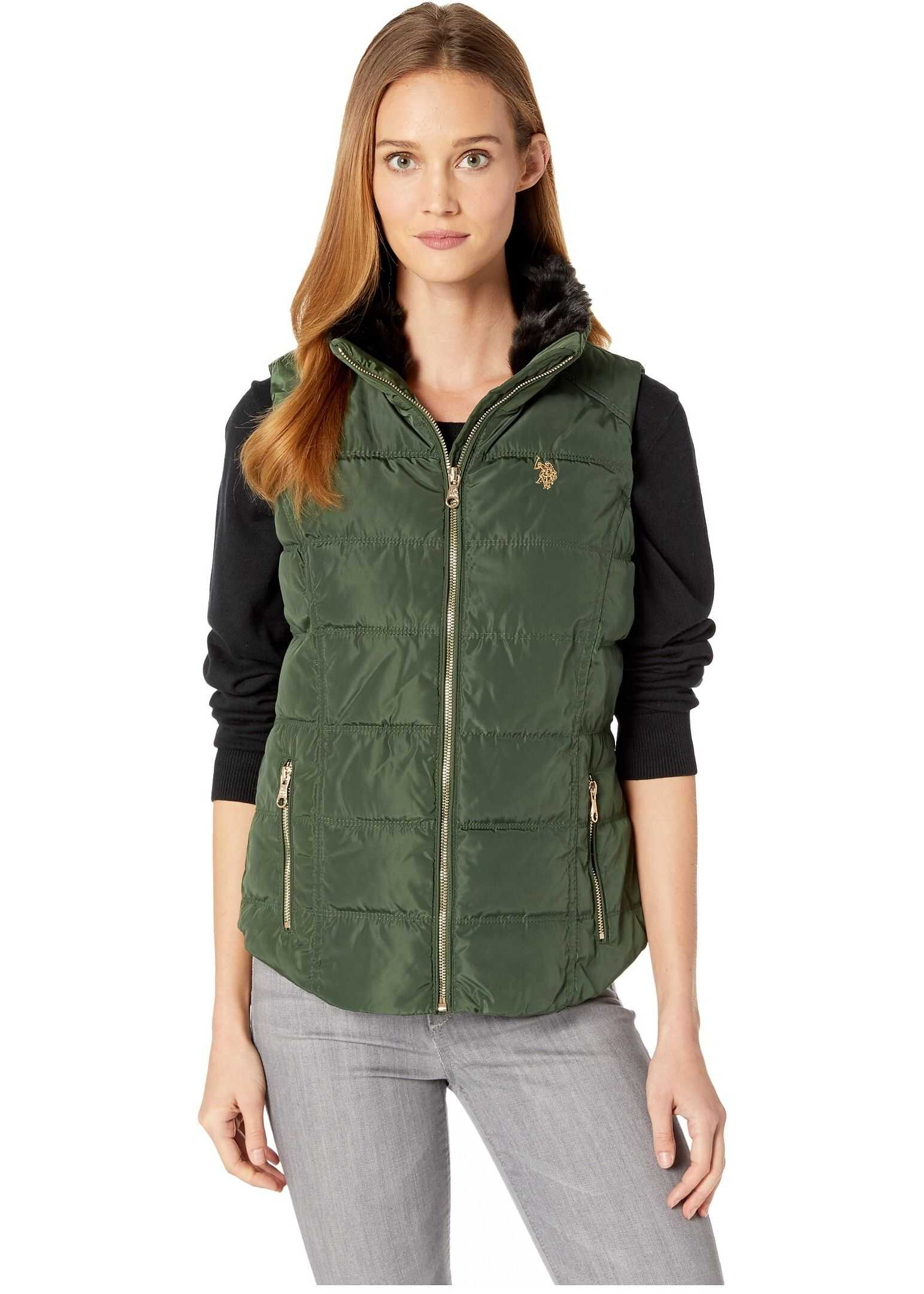 U.S. POLO ASSN. Basic Vest Olive