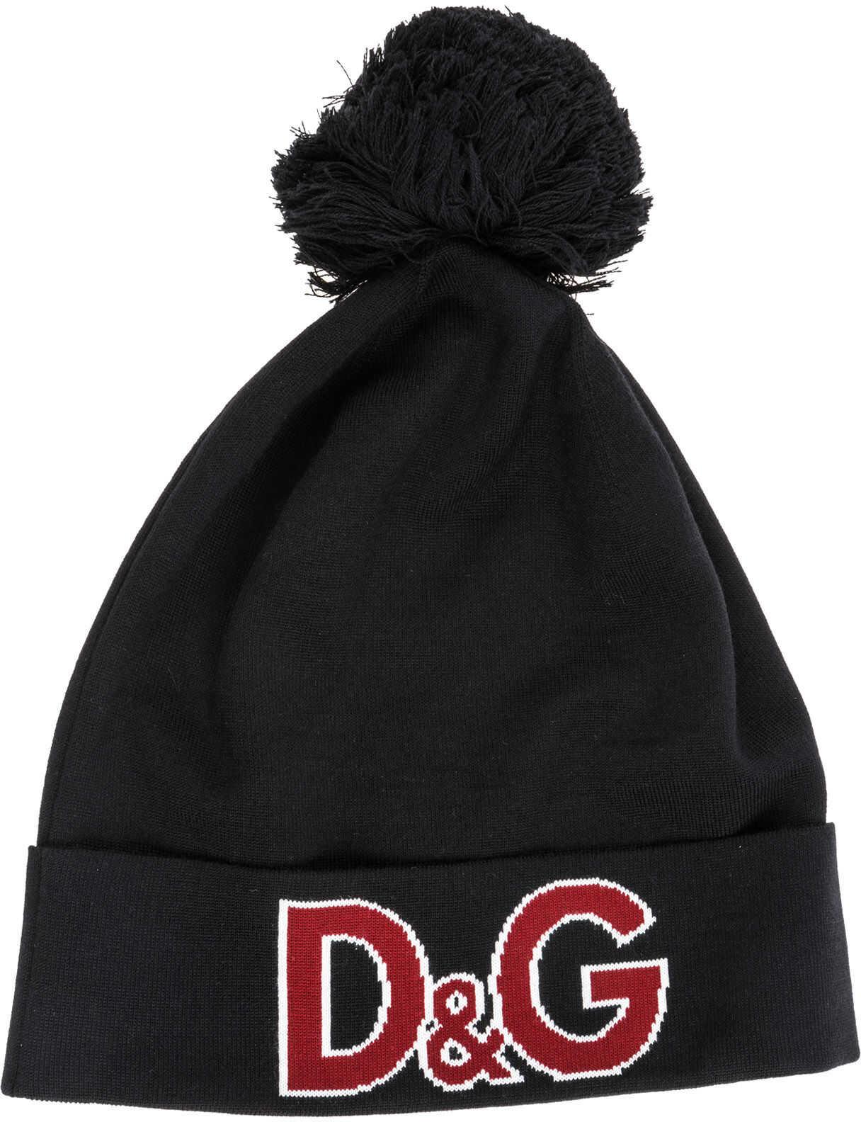 Dolce & Gabbana Beanie Hat Black