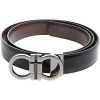 Curele Black Leather Belt With Buckle Closure Femei