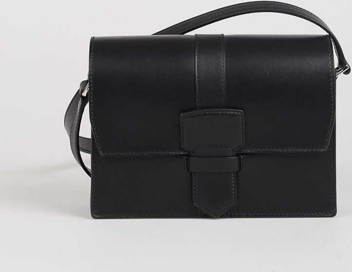 Salvatore Ferragamo Leather ALTEA Shoulder Bag BLACK