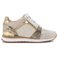 Tenisi & Adidasi Michael Kors Billie Beige And Gold Leather Sneaker*
