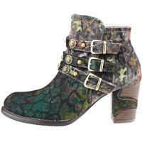 Ghete & Cizme Anna 128 Ankle Boots In Khaki Multicolour Femei
