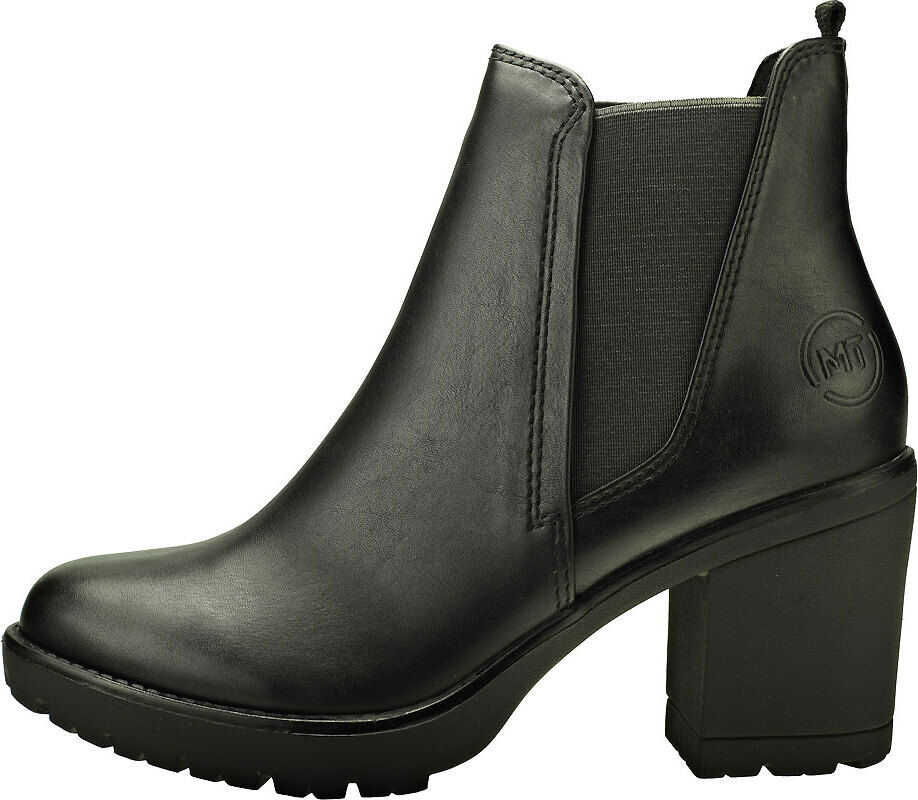 Marco Tozzi Stretch Insert Heel Boot Chelsea Boots In Black Black