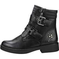 Ghete & Cizme Two Buckle Straps Ankle Boot Boots In Black Femei