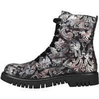Ghete & Cizme Side Zip Printed Ankle Boot Boots In Black Femei