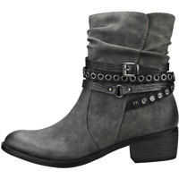 Botine Decorative Ankle Strap Ankle Boots In Dark Grey Femei