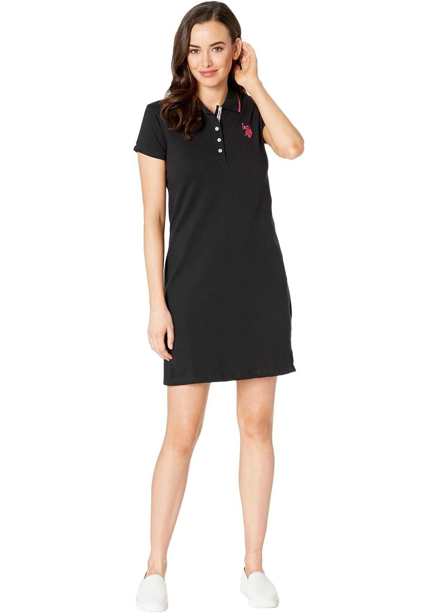 U.S. POLO ASSN. Plain Polo Dress Anthracite