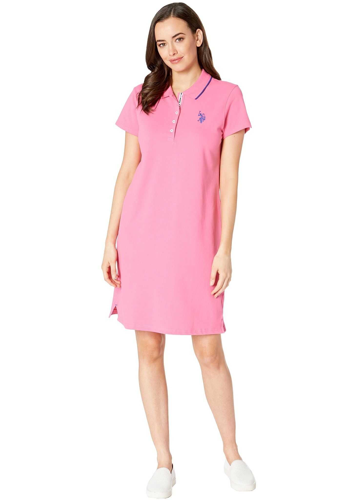 U.S. POLO ASSN. Plain Polo Dress Pink Plumeria