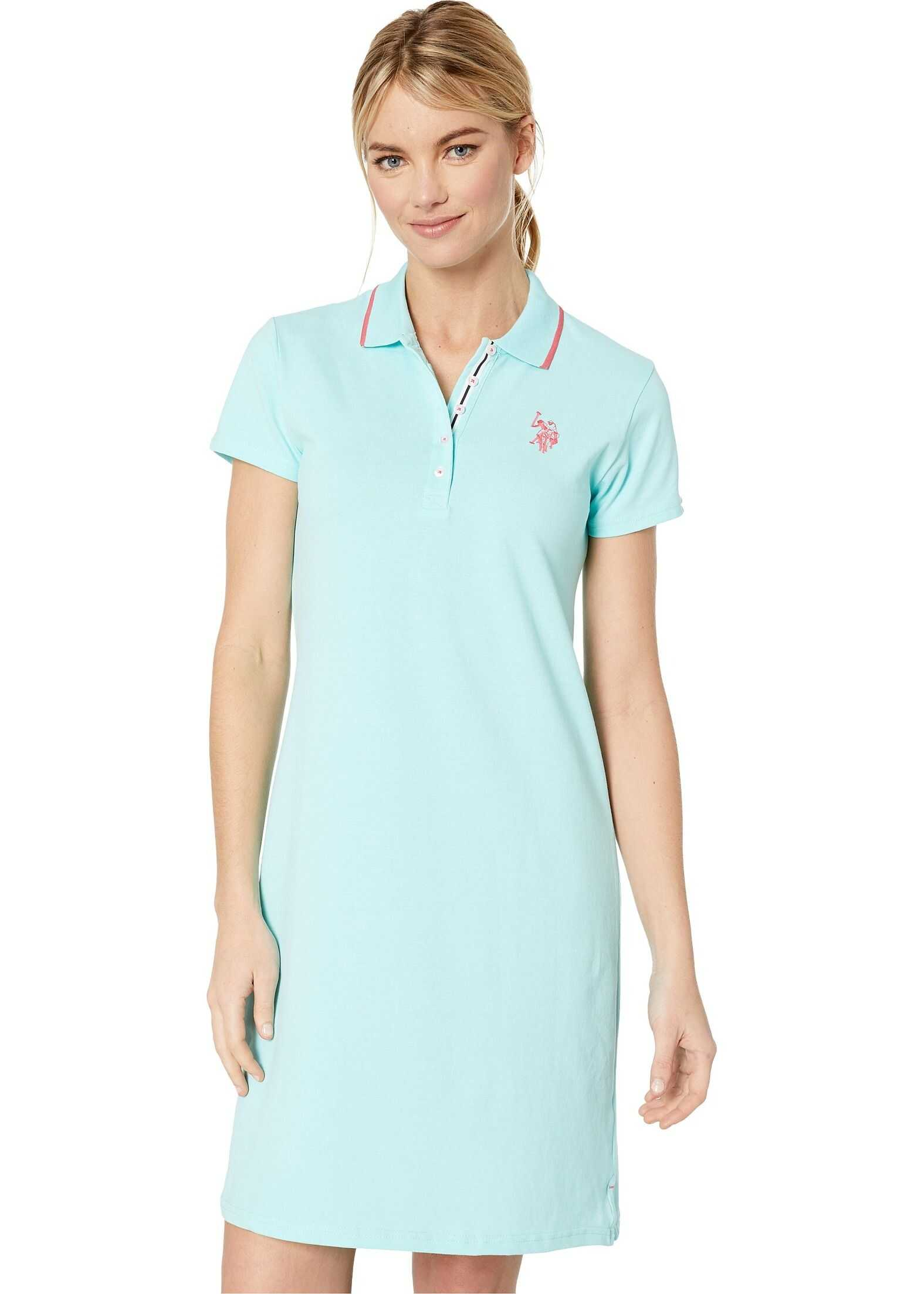U.S. POLO ASSN. Plain Polo Dress Surf Jack Aqua