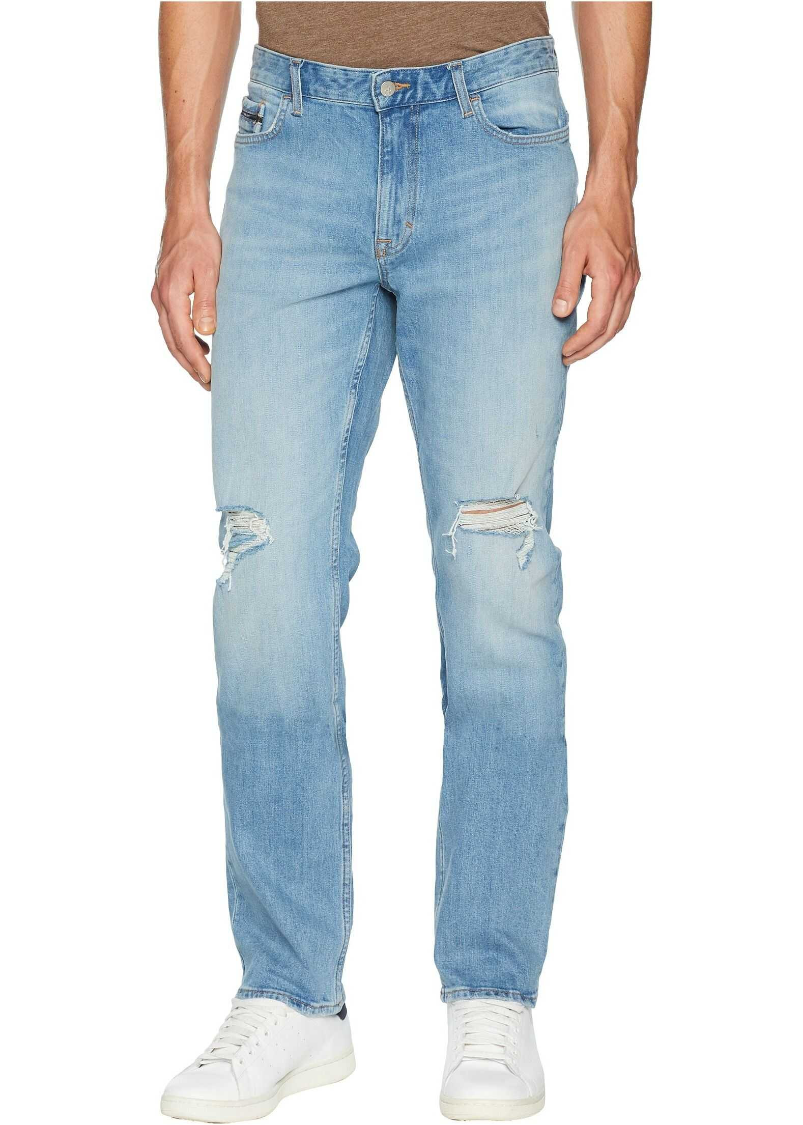 Calvin Klein Jeans Slim Straight Fit Jeans in Divisadero Blue Wash Divisadero Blue Wash