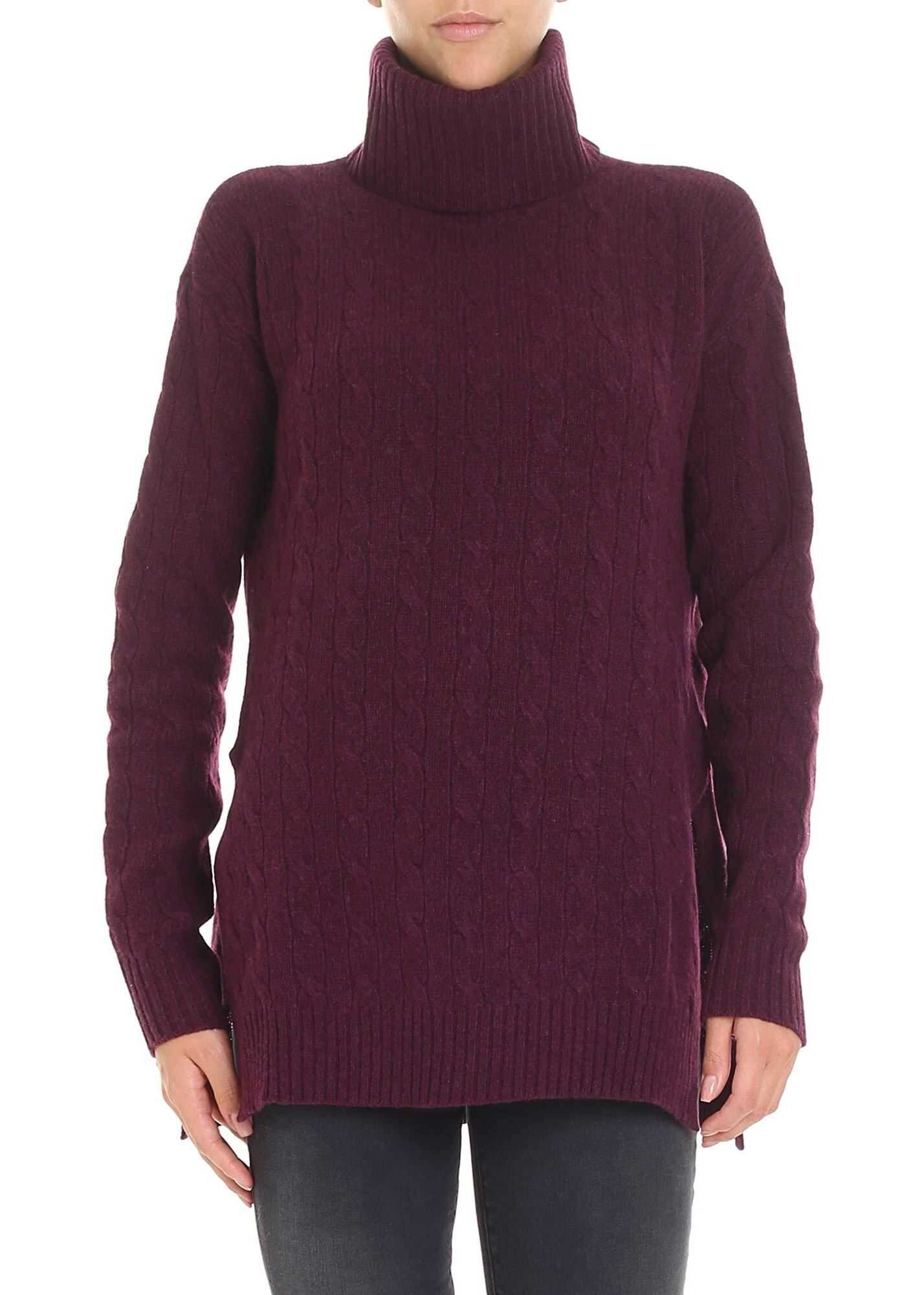 Ralph Lauren Purple Flared Turtleneck* Purple