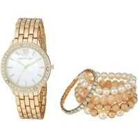 Ceasuri Fashion Madden Girl Watch with Stretch Bracelet Set SMGS018 Femei