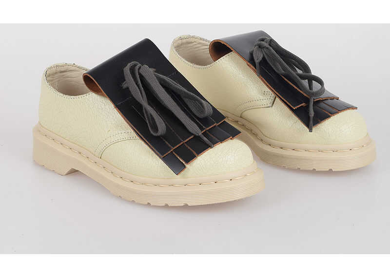 Dr. Martens MARNI Leather Vintage Effect Shoes BEIGE imagine b-mall.ro