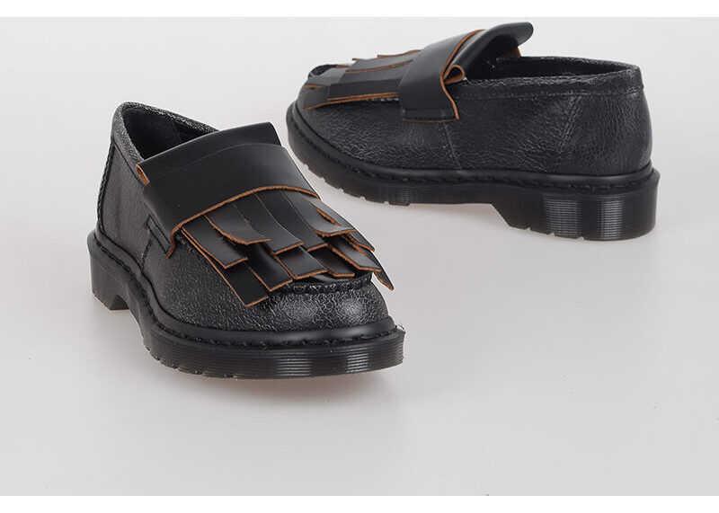 Dr. Martens MARNI Leather ADRIAN MZ Fringes Loafer BLACK